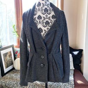 Sleeping On Snow chevron wool blend jacket